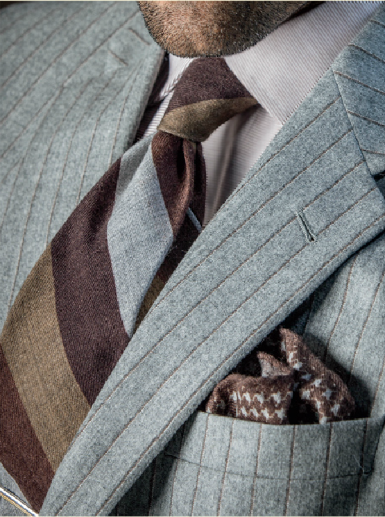Brown and Grey Tie